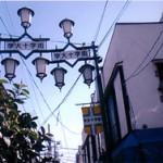 十字街入口にあるシンボル灯