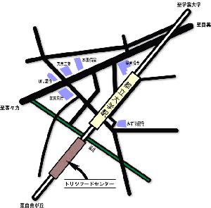 トリツフードセンターの地図